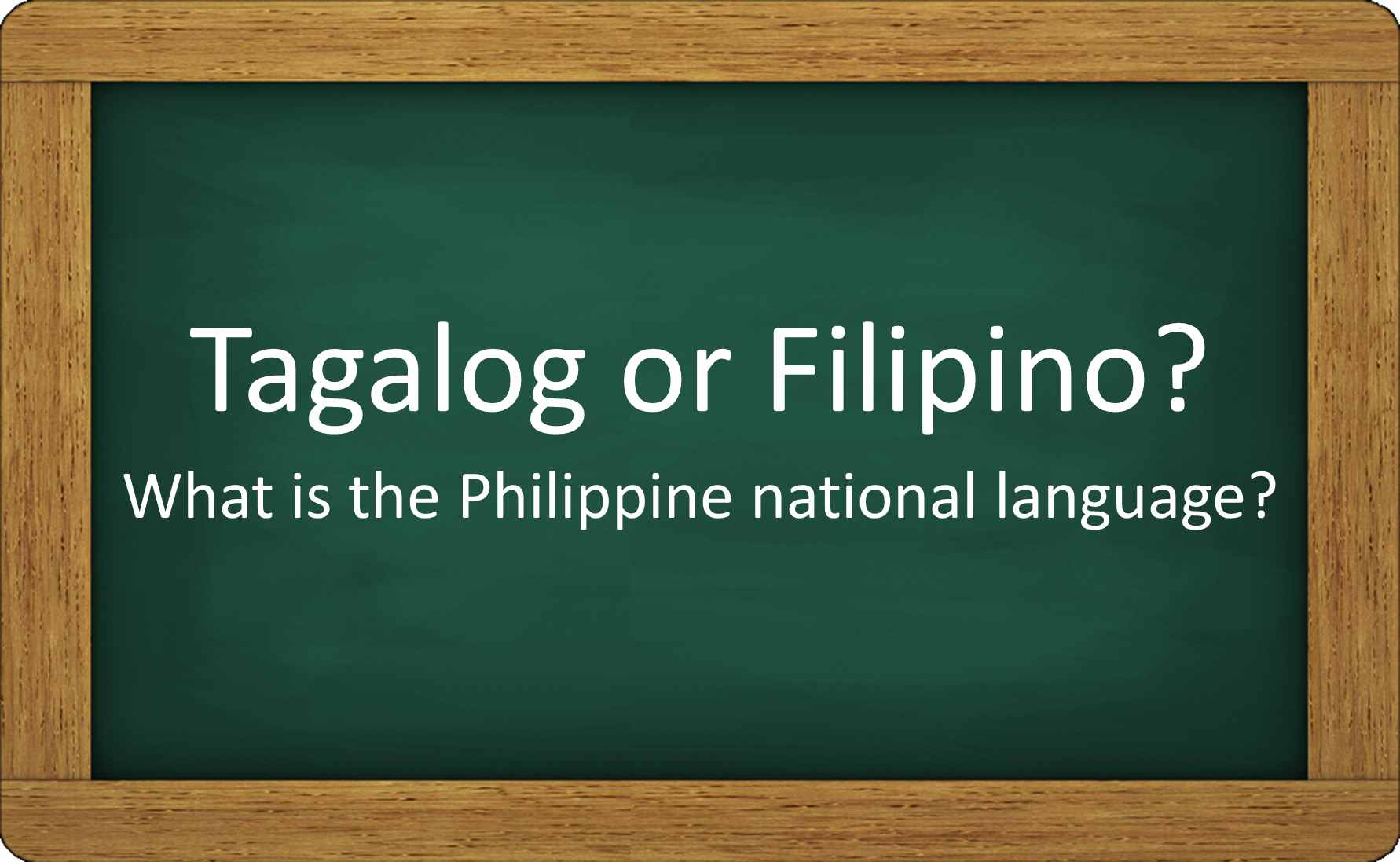 What's the difference between Tagalog and Filipino? Or are they the same?